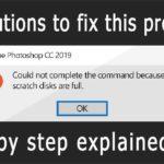 Fix Scratch Disk full in Photoshop