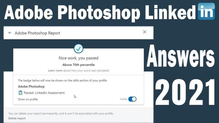 Linkedin Photoshop Assessment Answers