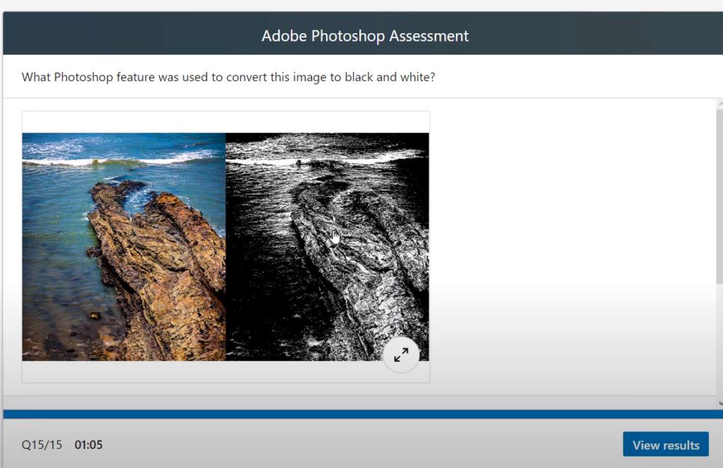 Adobe Photoshop LinkedIn Assessment Question Answer 8
