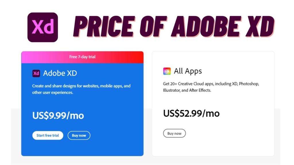 price of Adobe xd